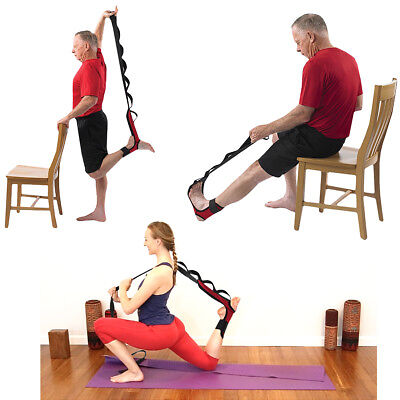 OPTP Stretch-EZ Foot, Calf, Hip, and Lower Back Stretching Aid - Red/Black