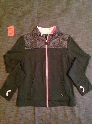 Black Pink Active Wear Jacket Sweater Outfit Size10 12