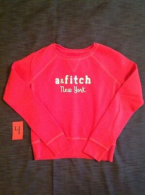 Pink Abercrombie Fitch Sweatshirt Sweater Jacket Outfit Size 12 14