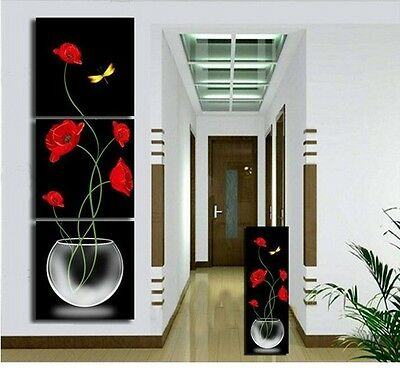 3 Pc Large Canvas No Frame. Modern Abstract Art Oil Painting Beautiful Wall Deco