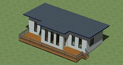 Small Modern Style Home Plans  Model  778 with Free Greenhouse Plans