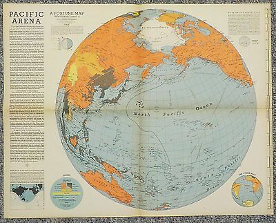 Fortune Map Pacific Area Supplement to September 1942 Issue