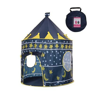 Prince Princess Castle Kids Play Tent Children Foldable Playhouse w/ CarryBag