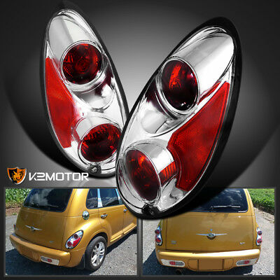 2001-2005 Chrysler PT Cruiser Chrome Tail Lights Rear Brake Lamps Replacement