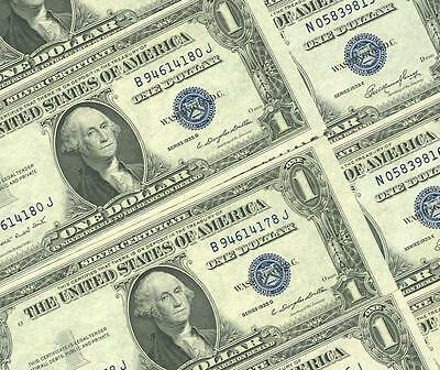 10-$1.00 1935 Mixed Series Choice New  Blue Seal Silver Certificates Dealers Lot