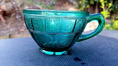 Teal Ultramarine Doric & Pansy Cup