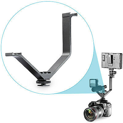 Neewer V Support Universel avec 3 Sabot Froid pour Nikon Canon Sony Pentax DSLR