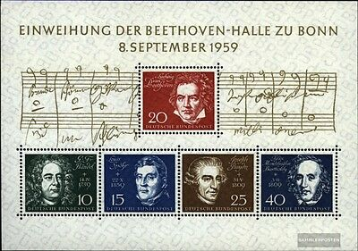 FRD (FR.Germany) block2 (complete.issue) used 1959 Beethoven