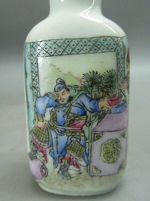 Chinese Ancient Knight Hand Painted Porcelain Snuff Bottle