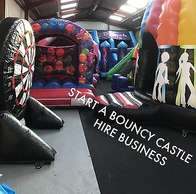 Start A Bouncy Castle Hire Business £50 Off Voucher At Andy J Leisure
