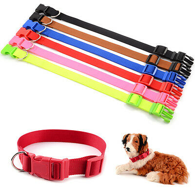 Adjustable Nylon Soft Fabric Pet Dog Cat Puppy Collar With Buckle&Clip for Lead
