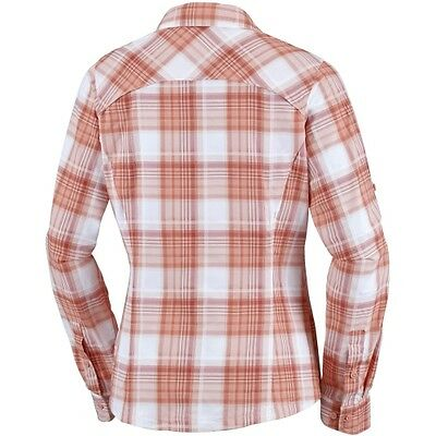 Columbia Silver Ridge Plaid L/S Shirt women light coral dobby plaid Reisebluse
