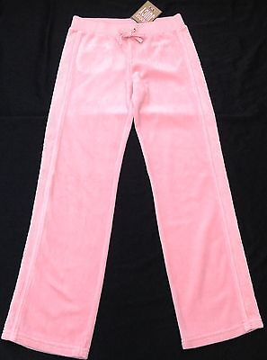 NWT Juicy Couture New Gen.Pink Velour Tracksuit Pants Scotty Dog Logo Girl Age 8