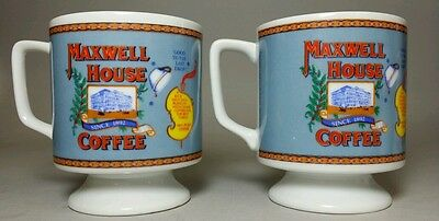 Vintage Maxwell House Coffee Cups Set.
