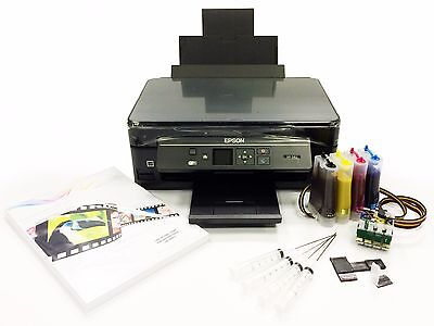 A4 Dye Sublimation Printer Package Epson XP-342 + Continuous Ink System + Paper