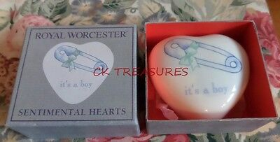 Royal Worcester Sentimental Hearts Ornament It's A Boy Gift For New Baby Boy