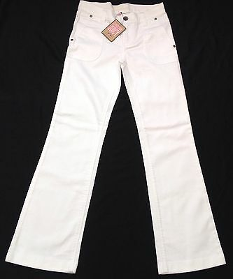NWT Juicy Couture New Genuine White Cotton Flared Jean Trousers Girls Age 8