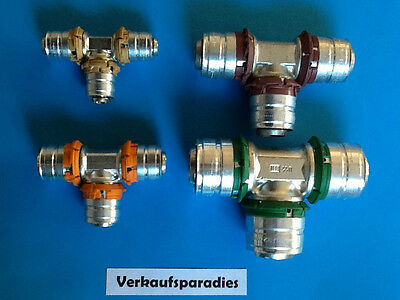 Uponor,Unicor,Unipipe,Metall Pressfitting T - Stück 16 - 32 mm