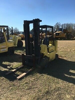 """Hyster 8000Lb Lp Forklift 42"""" Forks 15' Lift Height Cushion Tire Box Car Special"""
