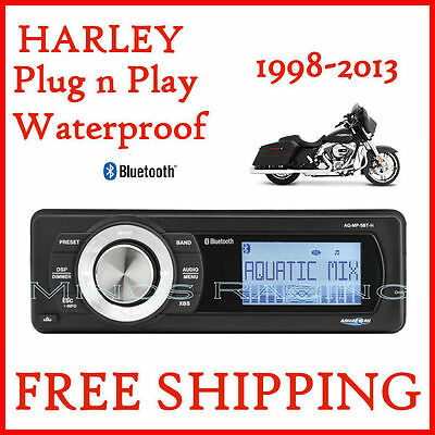 AQUATIC AV HARLEY STREET GLIDE FACTORY RADIO REPLACEMENT With BLUETOOTH STEREO