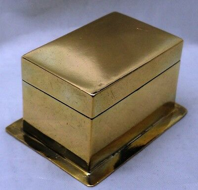 SMALL VICTORIAN SOLID SILVER GILT TABLE BOX ~ H J LIAS LONDON 1873 ~ WEIGHT 42 g
