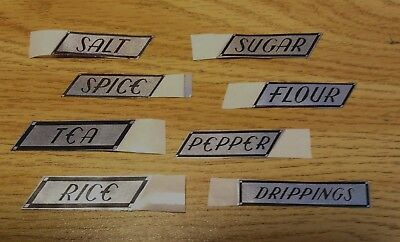 HOCKING Small CANISTER - SHAKER Replacement LABELS - Choice of 3 - LABELS ONLY
