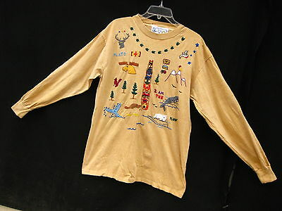 Vintage 1992 Swan Magical Tees Top~EMBROIDERED~I AM THE WALRUS + MUCH MORE~L/XL