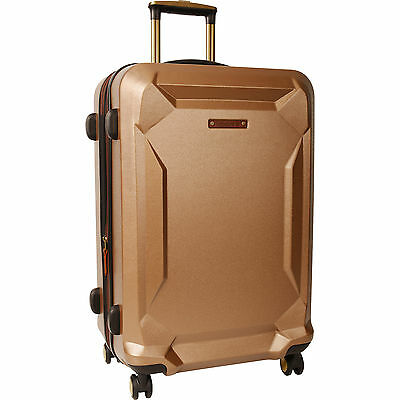 "Timberland Fort Stark Tan Hardside Spinner 29"" Suitcase $400 Value"