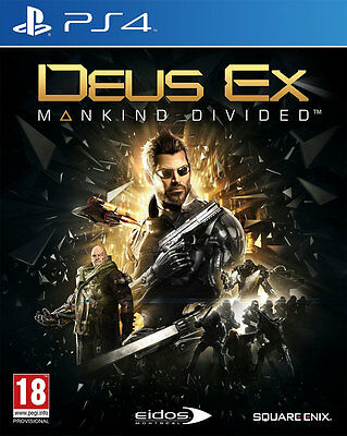 Deus Ex: Mankind Divided - Day One Edition (PS4)  BRAND NEW AND SEALED