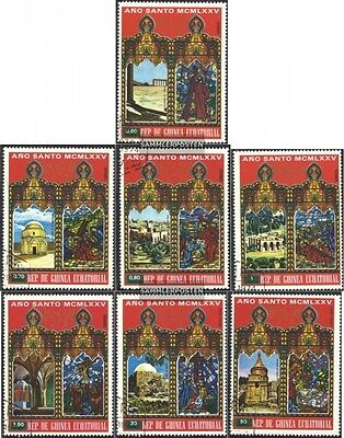 Equatorial-Guinea 527-533 (complete issue) used 1975 Easter: Bu