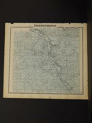 Ohio Cuyahoga County Map Independence Township  1874  K11#74