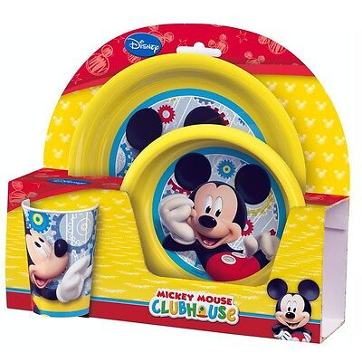 Mickey Mouse - Children Mealtime Set - Dinnerware Set Breakfast (3 pcs)