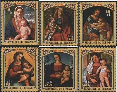 Burundi 1017A-1022A (complete issue) used 1973 christmas: Paint