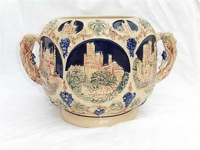 Vintage German Peter Gerz Castles On The Rhine Punch Bowl, Soup Tureen, Rumtopf