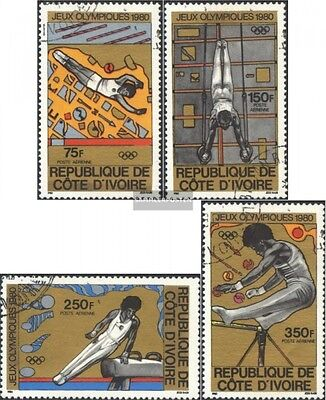The Ivory Coast 649-652 (complete issue) used 1980 Summer Olymp