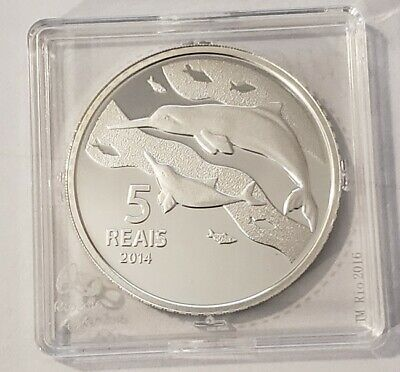 5 Reals 2014 Brazil Toninhas 2016 Rio Olympic Games Ag Proof with Certificate