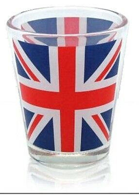 Union Jack Flag Shot Glass Souvenir Gift Hen Stag Party Wedding Birthday UK GB