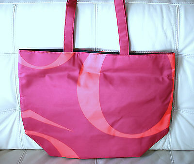 New PURPLE & CORAL X-Large Lancome Shopping Tote Beach Travel Bag