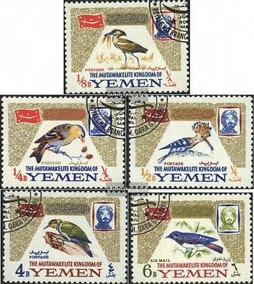 Yemen(UK) 148A-152A (complete issue) used 1965 Birds
