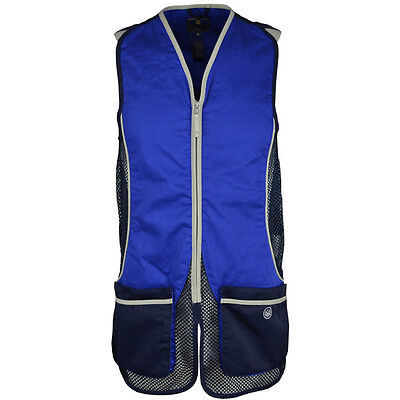 Beretta BLUE Silver Pigeon Clay Shooting Skeet Trap Vest  Size Large
