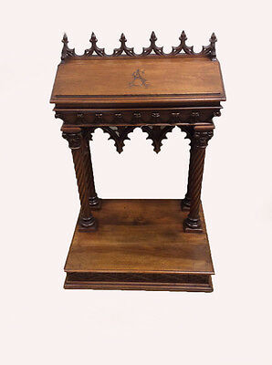 Gothic Prayer Bench Religious Antique French 19th Century BEAUTIFUL Model