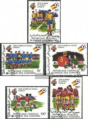 Comoros 614-618 (complete issue) used 1981 Football-WM ´82, Spa