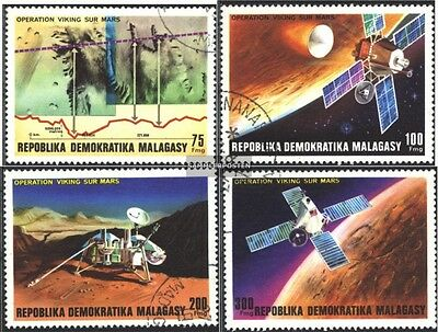 Madagascar 814-817 (complete issue) used 1976 Company Viking