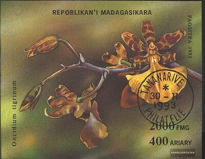 Madagascar block239 (complete issue) used 1993 Orchids