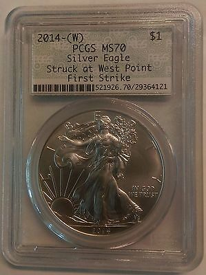 2014-(W) American Silver Eagle $1 Dollar Coin First Strike. Pcgs: Ms70. 29364121