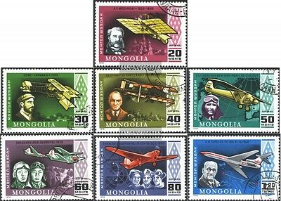 Mongolia 1140-1146 (complete issue) used 1978 Famous Air + Airc