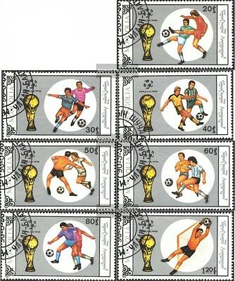 Mongolia 2121-2127 (complete issue) used 1990 Football-WM ´90,