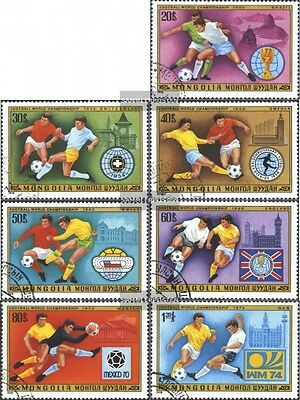 Mongolia 1148-1154 (complete issue) used 1978 Football-WM ´78,