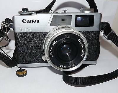 Vintage Canon Canonet 28 35mm Film Camera with 40mm Lens Parts