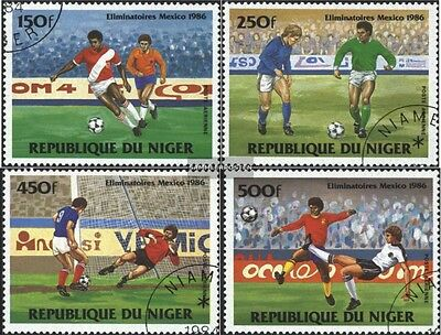 Niger 908-911 (complete issue) used 1984 skill games Football-W